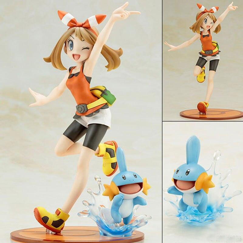 Takara Tomy Pokemon Pikachu May with Mudkip Action Figure Toys Model Toys For Children Birthday Christmas Gift